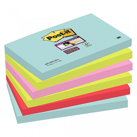 "Post-it® Super Sticky ""Miami"" Haftnotizen"